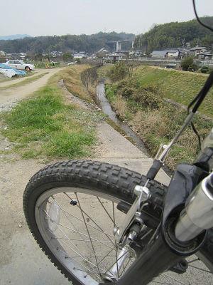 今日は自転車