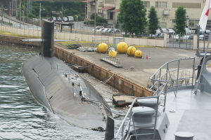 潜水艦のアップ