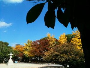 晴れの平和公園