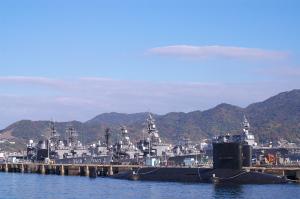 呉基地の潜水艦と