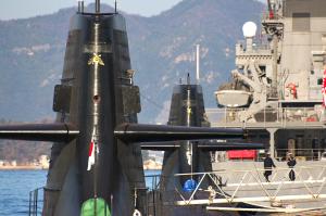 チョウと潜水艦