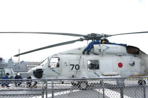 「はまぎり」の哨戒ヘリ