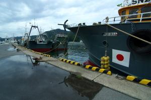 境港でみた船