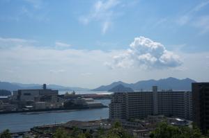 江波山気象館の屋上