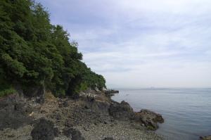 島のビーチ