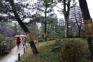 雨の縮景園