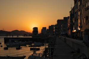 尾道の夕陽