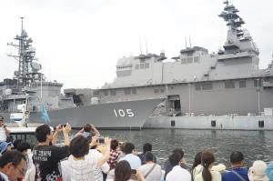 護衛艦「かが」の一般公開