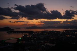 黄金山から夕景