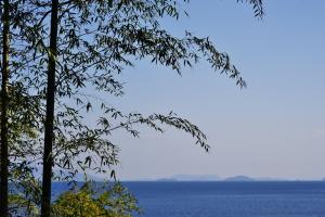 岩国沖の空と海