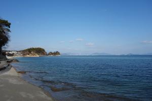 岩国沖の空と海-2