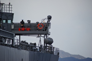 海洋観測艦わかさ寄港