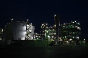 大竹の工場夜景