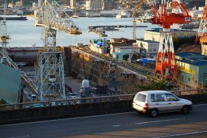 暮れのJMU造船所
