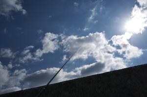 釣り場の青空