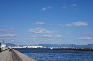 木材港北の護岸
