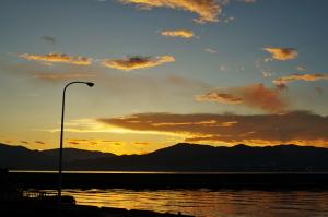 夜明けの釣り場