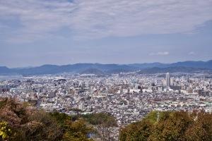 黄金山展望台の眺望