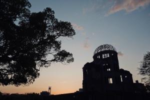 黄昏時の平和公園