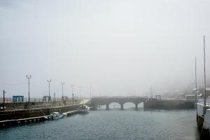 霧の豊浜大橋