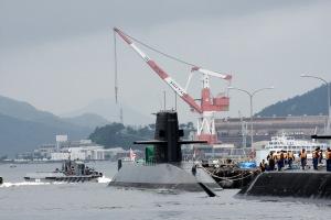 潜水艦の帰還シーン