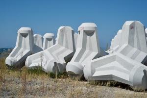 安芸灘のモアイ像