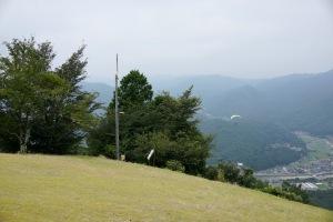 白木のパラグライダー