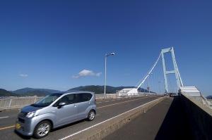 安芸灘大橋を渡って