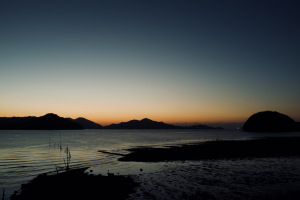 夜明けの尾道・干汐海岸-2