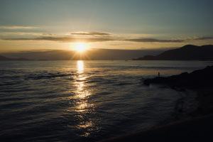 尾道の夜明けシーン