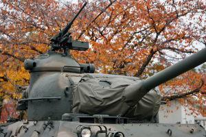 海田駐屯地の61式戦車