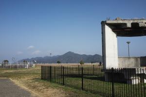 大竹市工場地帯を駆けて
