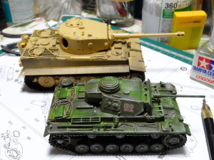 1/48 Tiger Ⅰ  製作中