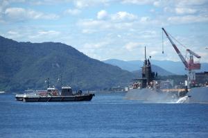 潜水艦 訓練中